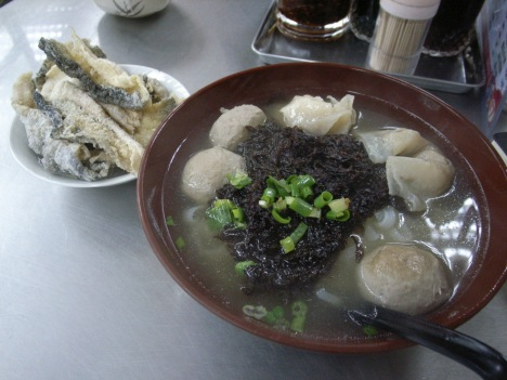 Fish Dumplings & Beefballs in Soup with Seaweed