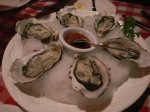 Oysters at Louis Steak House