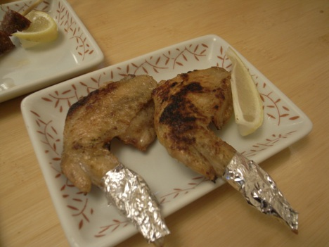 Tebasaki (手羽先) or Chicken Wing Yakitori
