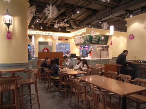 Interior at Freshness Burger in Windsor House