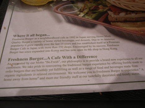Remvcnring their neightbordhood Freshness Burgers