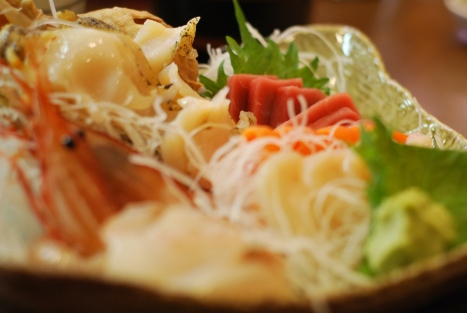 Sashimi Platter at a Random Restaurant in New Chitose Airport, Hokkaido