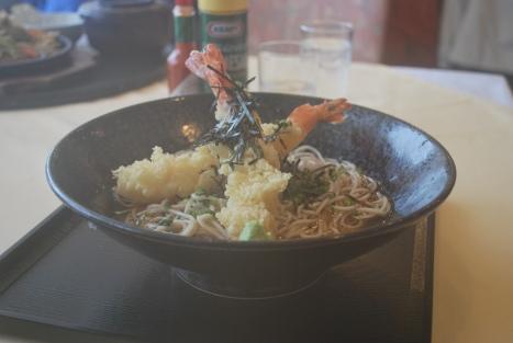 Tempura Soba Noodle at Restaurant Gulliver