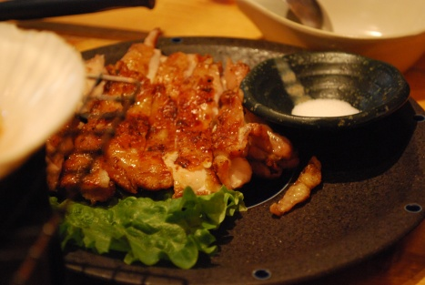 Grilled Hokkaido Chicken with Salt at Abucha