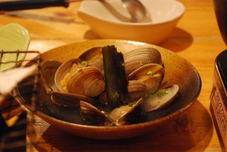 Clam Cooked in Sake at Abucha