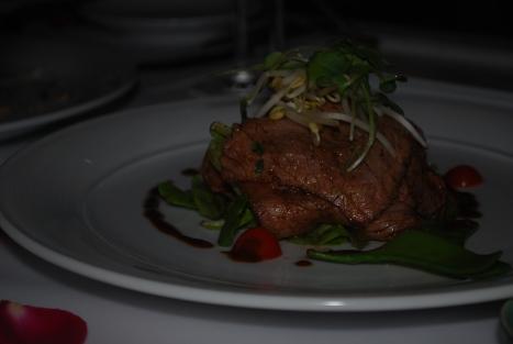 Steak Salad with Eggplants and Chipotle Sauce