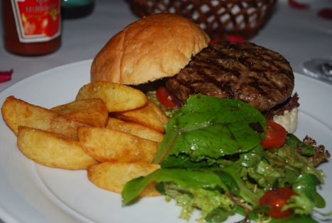 Burger with Truffled Fries