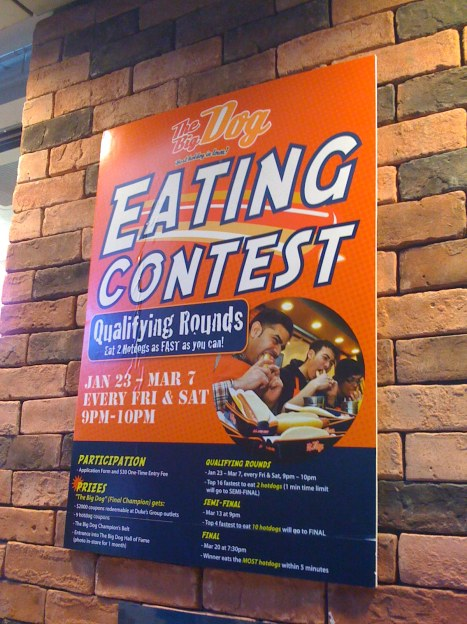 Hotdog Eating Contest at The Big Dog