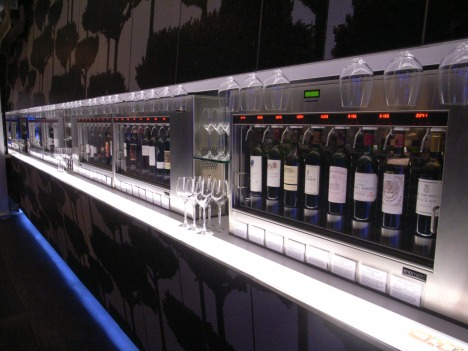 5 Enomatic Wine Dispensers at Tastings Wine Bar in Central