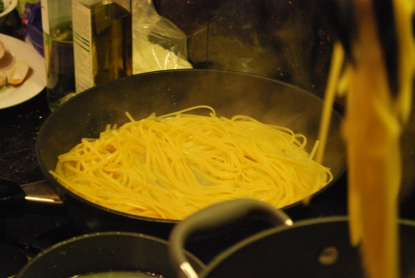 Take Out the Half-cooked Linguine