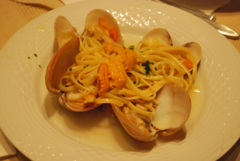 Linguine with Clams and Sea Urchin