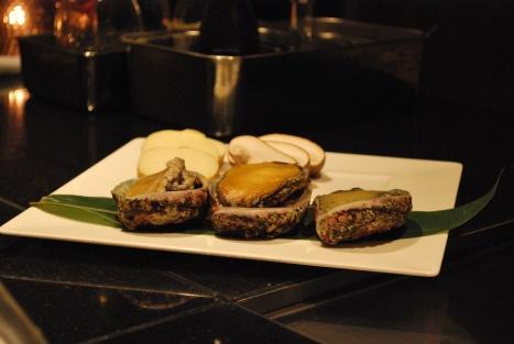 Hokkaido Abalone, Fresh Potato and Portobello (?) Mushroom