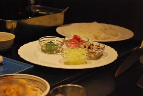 Ingredient for the Teppanyaki Fried Rice