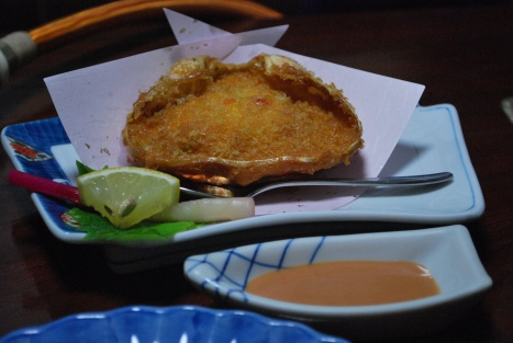 Fried Crab Cake ... in the Shell