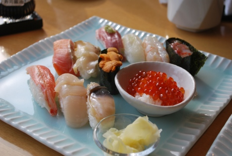Sushi Platter at Masazushi in Otaru