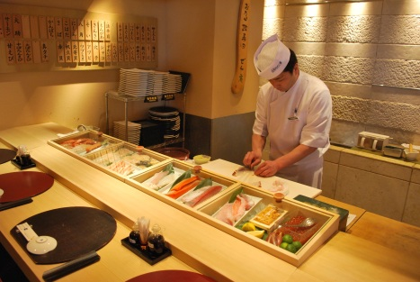 Chef Preparing Our Food at Masazushi 1