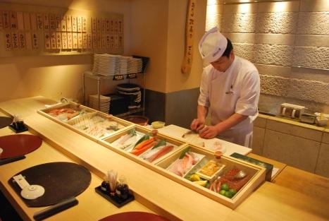 Chef Preparing Our Food at Masazushi 1