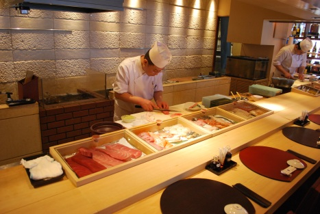Chef Preparing Our Food at Masazushi 2