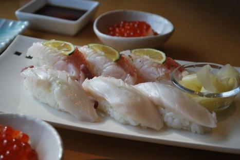 Tako Sushi and Something Else (Sorry, I Forgot)
