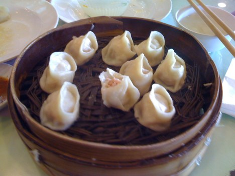 Crab Roe Steamed Dumplings