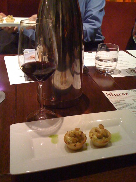 Maison Bouachon Cotes du Rhone Rouge 2006 paired with poached chicken and onion tartlet