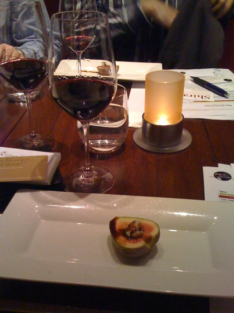 Leeuwin Estate Siblings Shiraz 2006 paired with black fig with gorgonzola