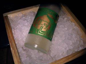 Yuzu Sparkling Sake at Zuma