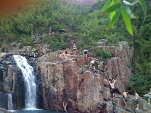 Cliffjumping at Luk Wu Stream 1