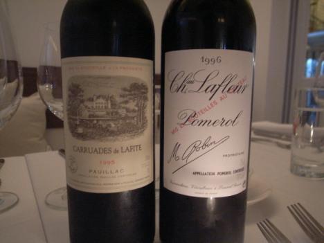Carruades de Lafite 1995 & Chateau Lafleur 1996
