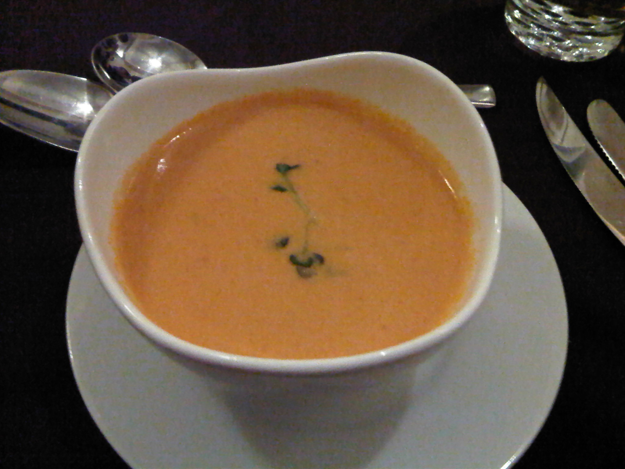 Soup of the Day - Tomato and Pepper Puree Soup?