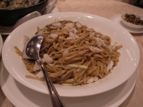 Efu noodles braised with crab meat