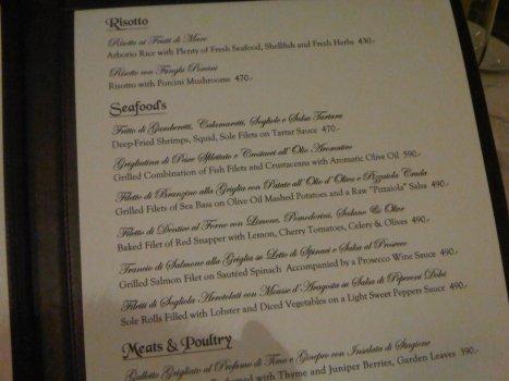 The seafood mains ... reasonable, no?