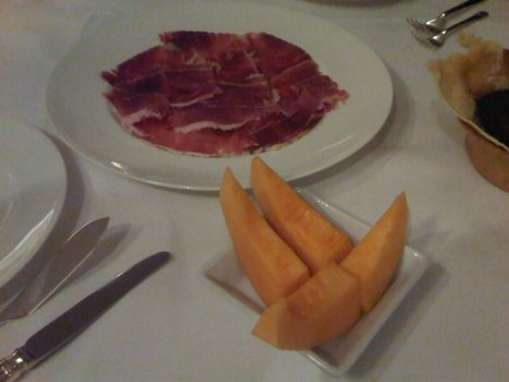 Genuine Parma Ham Sliced on Honey-Dew Melon