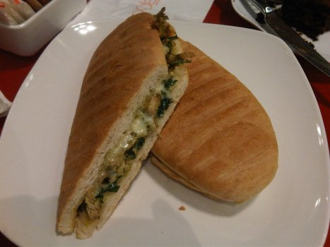 Chicken Pesto Panini at Epoch on Star Street