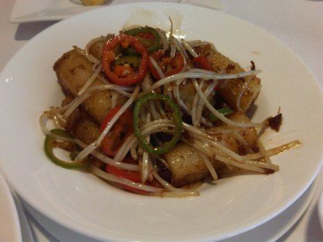 X.O. Sauce Fried Rice Noodle Rolls (X.O. 醬炒腸粉)