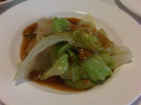 Cabbage with Abalone Sauce (No Abalone)