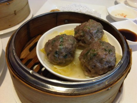 Steamed Beef Balls with Bean Curd Skin (山竹牛肉球)