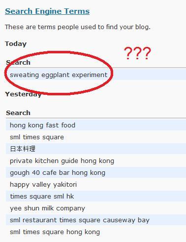 Sweating Eggplant Experiment